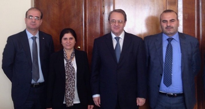 PYD heyeti, Rusya Dışişleri Bakan Yardımcısı Mihail Bogdanov'la Moskova'da biraraya geldi.