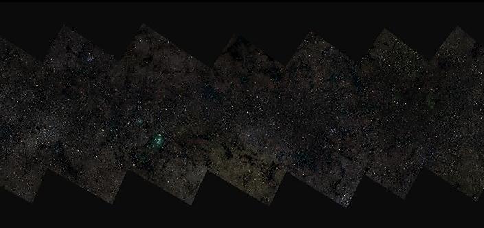 Bochum Üniversitesi'nin oluşturduğu 46 milyar piksellik Samanyolu fotoğrafı