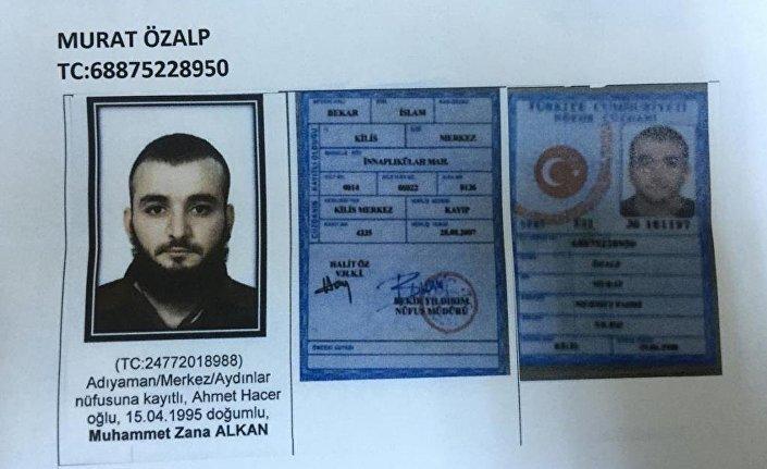 1995 Adıyaman doğumlu Muhammet Zana A.'nın Murat Özalp adına sahte kimlik taşıdığı belirtildi.