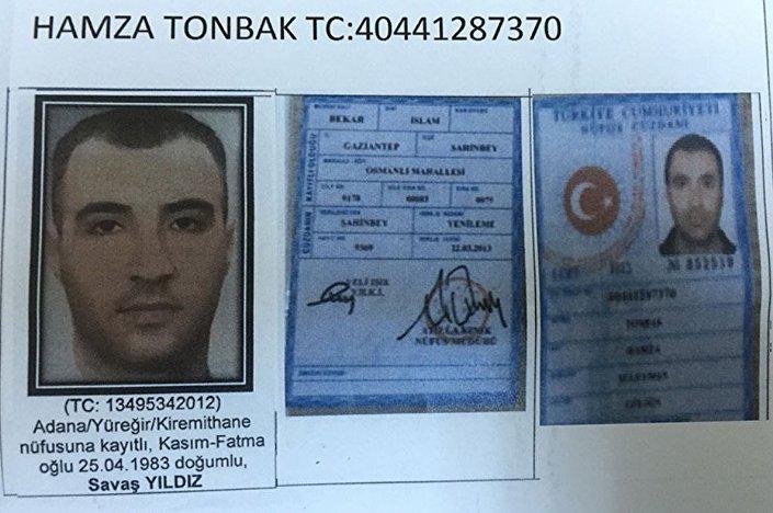 1983 Adana Yüreğir doğumlu Savaş Y.'nin Hamza Tonbak adına sahte kimlik taşıdığı belirtildi.