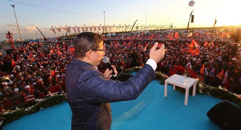 Başbakan Ahmet Davutoğlu Yenikapı mitinginde