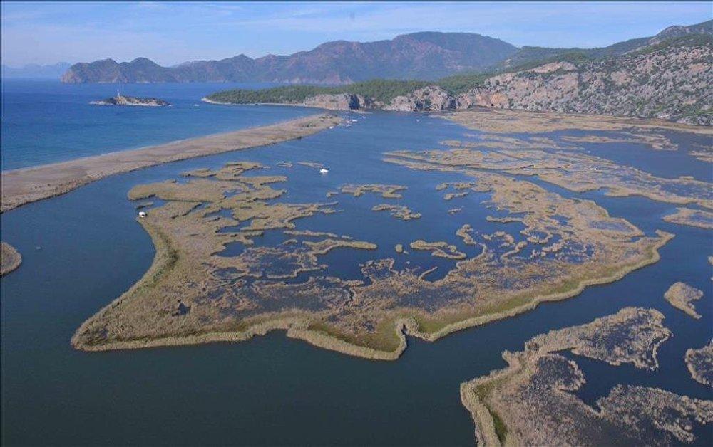 Muğla'nın doğal güzellikleri havadan görüntülendi