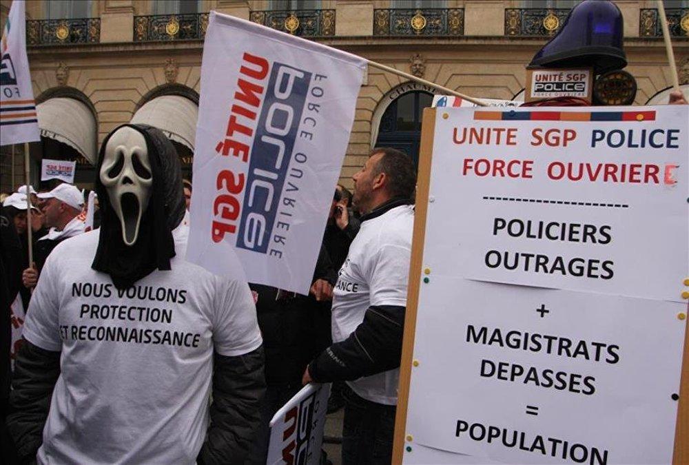 Fransa'da polis protestosu