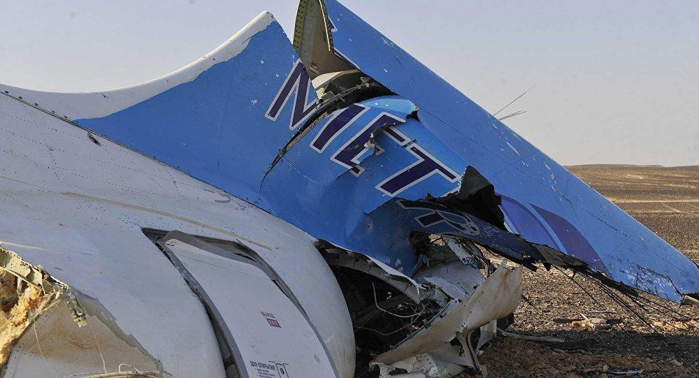 Mısır'da düşen Rus uçağından ilk görüntüler
