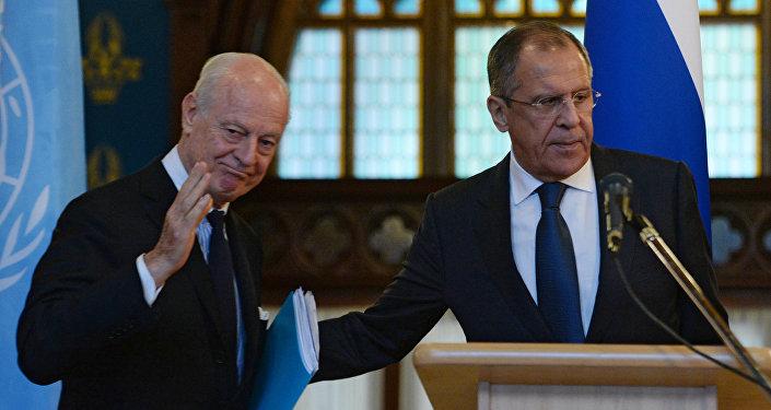 Lavrov, BM Suriye Özel Temsilcisi Mistura ile Astanayı konuştu 92