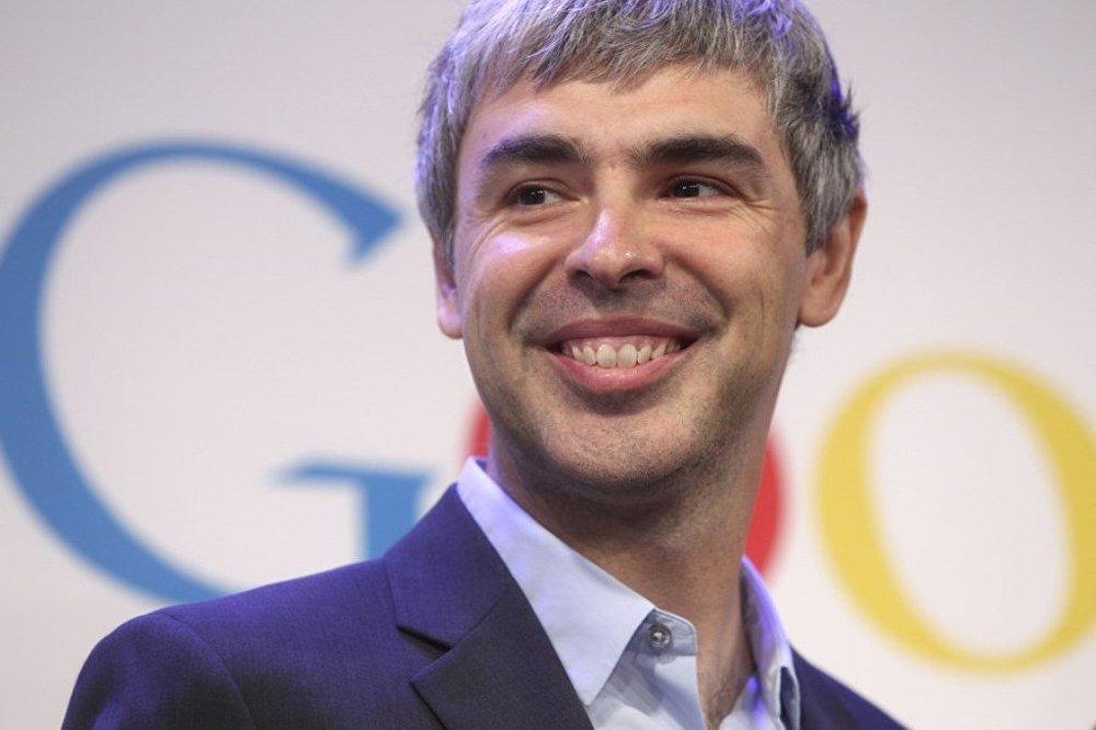 Google şirketinin kurucularından Larry Page.