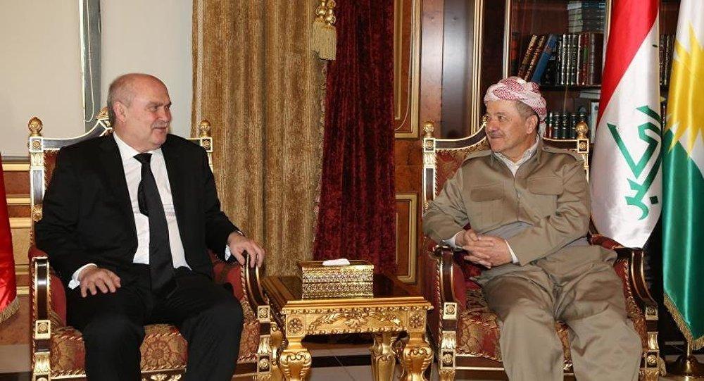 Dışişleri Bakanı Feridun Sinirlioğlu ve IKYB Başkanı Mesut Barzani