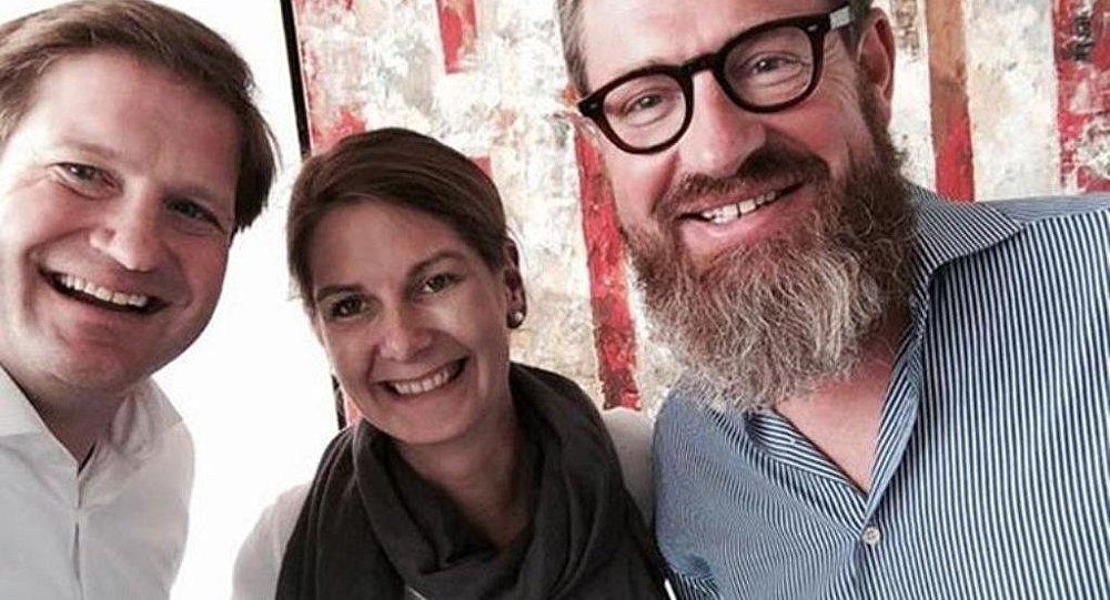 Soldan sağa: Rheinische Post Genel Yayın Yönetmeni Michael Bröcker, Tanit Koch ve Kai Diekmann