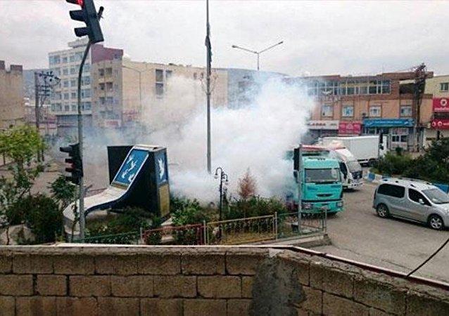 Şırnak'ın Cizre ilçesinde roketatarlı saldırı.