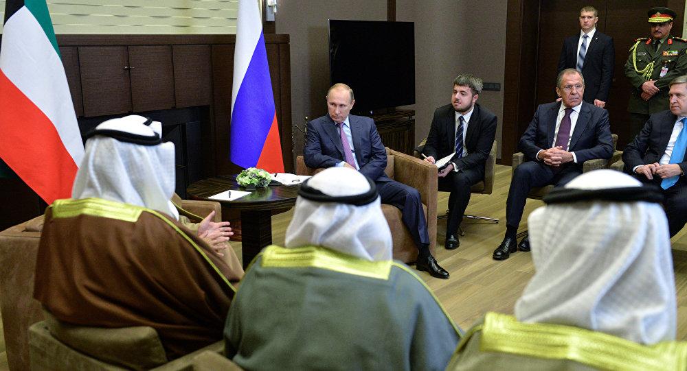 Rusya Dışişleri Bakanı Sergey Lavrov - Rusya Devlet Başkanı Vladimir Putin - Kuveyt Emiri Şeyh Sabah