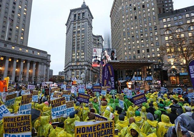 ABD'de asgari ücret protestoları