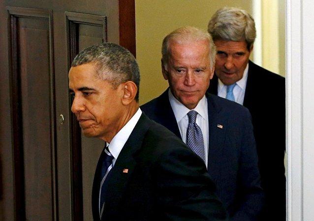 ABD Başkanı Barack Obama - ABD Dışleri Bakanı John Kerry - ABD Başkan Yardımcısı Joe Biden