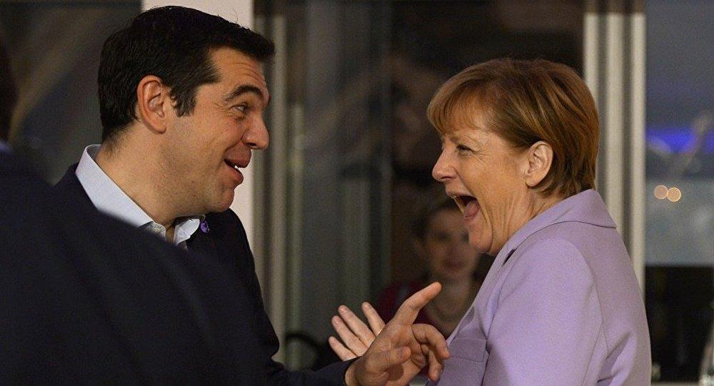Yunanistan Başbakanı Aleksis Çipras - Almanya Başbakanı Angela Merkel
