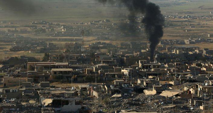 Irak'ın kuzeyindeki Sincar şehrinde ABD hava saldırılarının sonuçları.