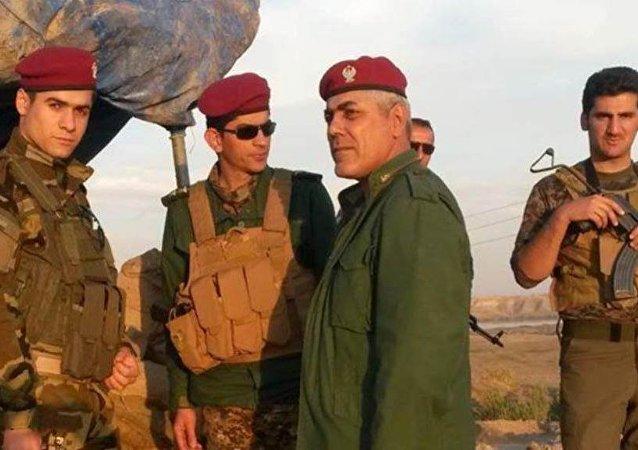 Kuzey Irak'taki Peşmerge  Komutanı Tuğgeneral Teyib Ebdula Gerdi,