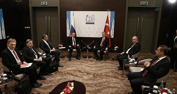 G20 Zirvesi Erdoğan-Putin görüşmesi
