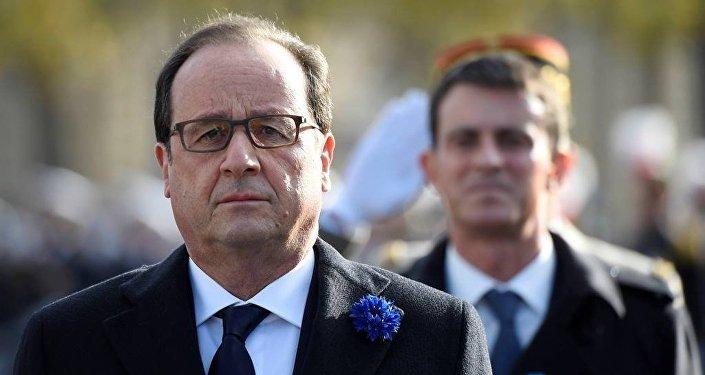 Fransa Cumhurbaşkanı François Hollande - Fransa Başbakanı Manuel Valls