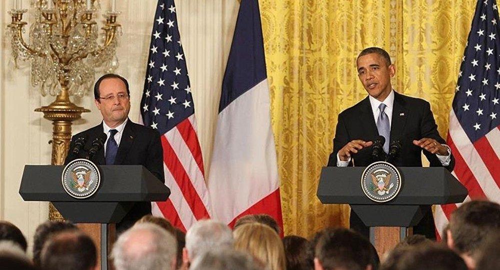 ABD Başkanı Barack Obama ile Fransa Cumhurbaşkanı François Hollande