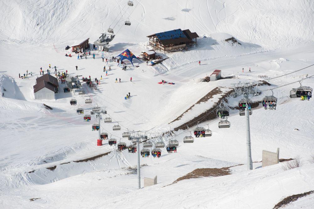 Soçi'de kayak sezonu