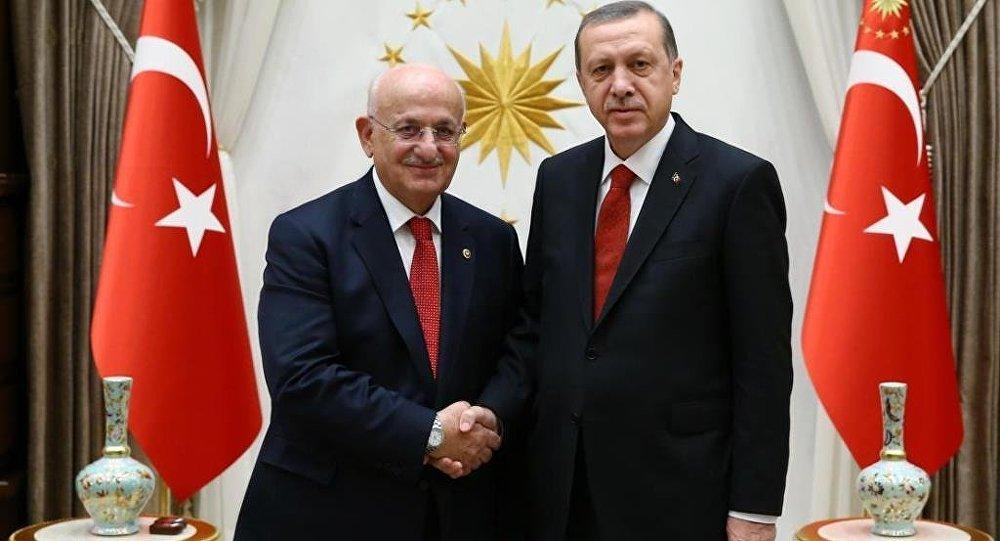 Cumhurbaşkanı Recep Tayyip Erdoğan, TBMM Başkanı İsmail Kahraman'ı kabul etti.