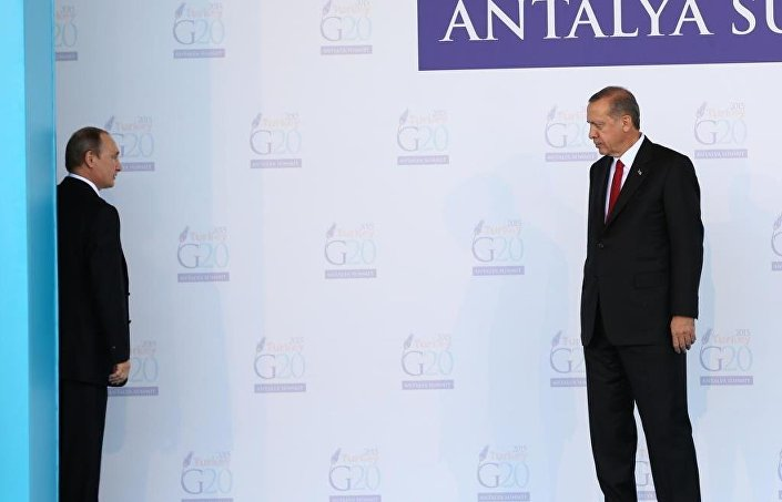 Putin ve Erdoğan, son olarak G20 Zirvesi kapsamında Antalya'da bir araya gelmişti.