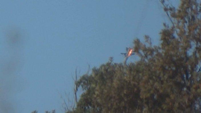 Suriye sınırında düşürülen Rus uçağı.