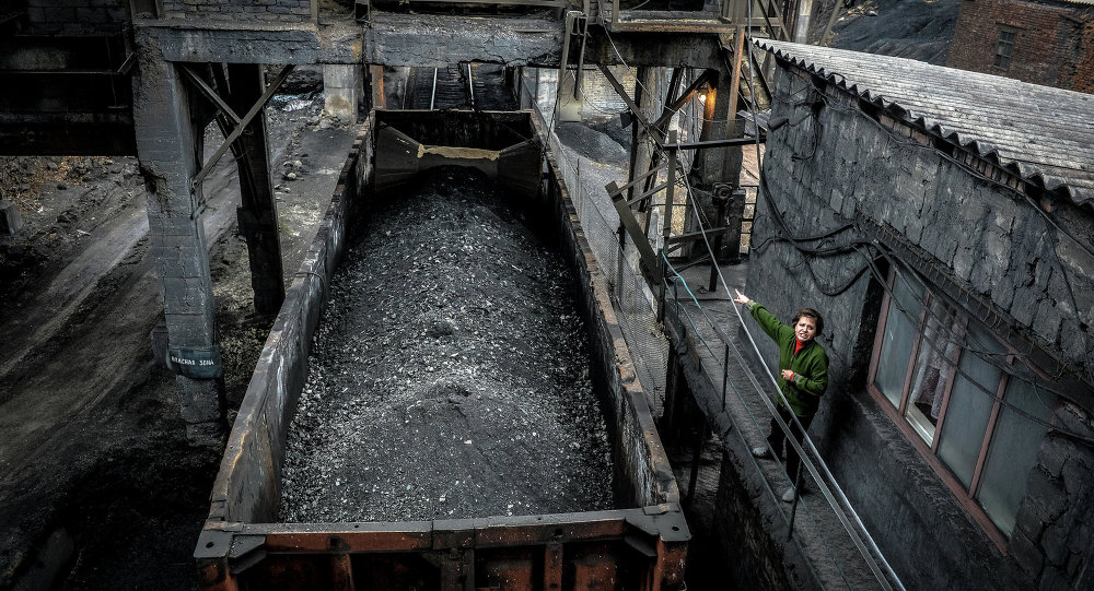 Loading coal at the Chelyuskintsev mine in Donetsk