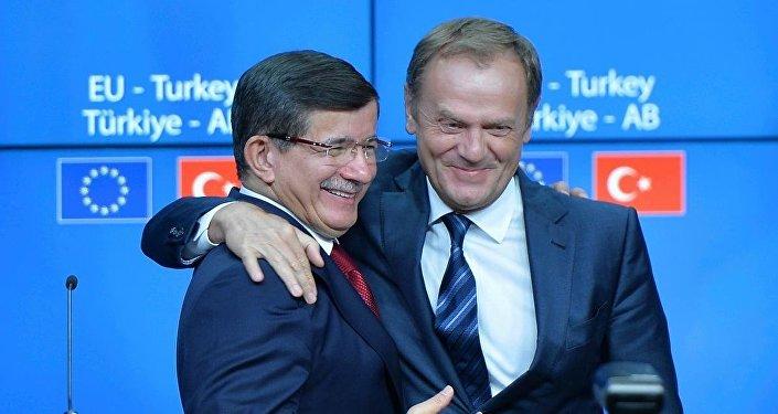 Başbakan Ahmet Davutoğlu - AB Konseyi Başkanı Donald Tusk