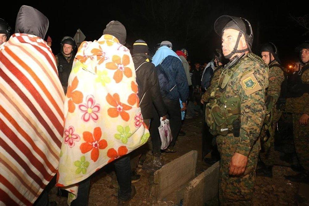 Avrupa'daki sığınmacı koridorunda arbede