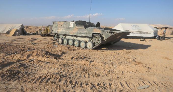 Suriye ordusunun yaralıları taşımak için kullandığı zırhlı piyade aracı.