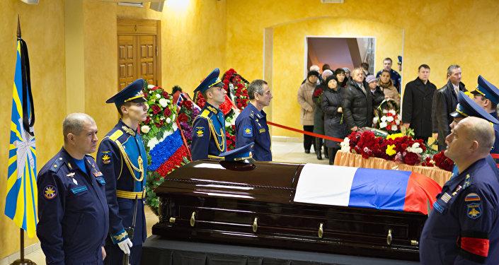 Oleg Peşkov'un cenaze töreni