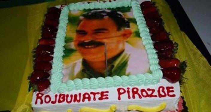 Öcalan resimli doğum günü pastası nedeniyle 3 sanığa 5'er yıl hapis istendi.