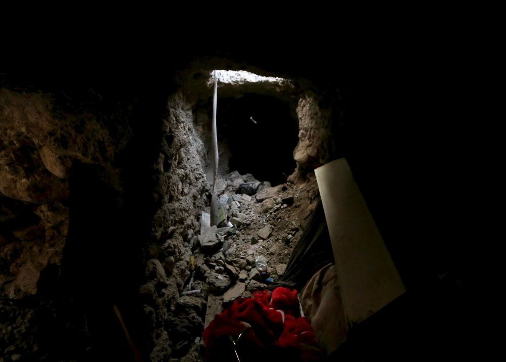 DAİŞ'in Sincar'da kullandığı tünellerden biri.