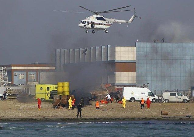 Hazar Denizi, patlama tatbikatı