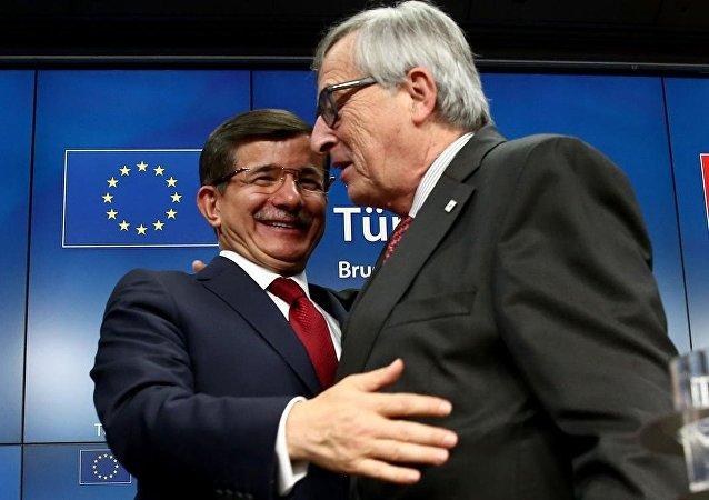 Başbakan Ahmet Davutoğlu - AB Komisyonu Başkanı Jean Claude Juncker