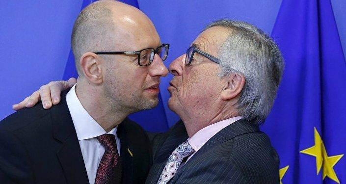 AB Komisyonu Başkanı Jean Claude Juncker - Ukrayna Başbakanı Arseniy Yatsenyuk