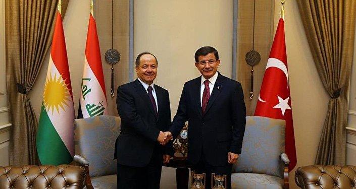 Barzani - Davutoğlu