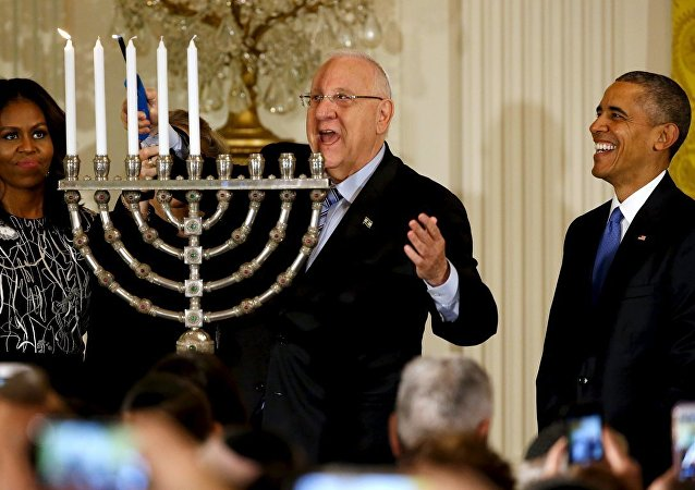 ABD Başkanı Barack Obama- İsrail Cumhurbaşkanı Reuven Rivlin