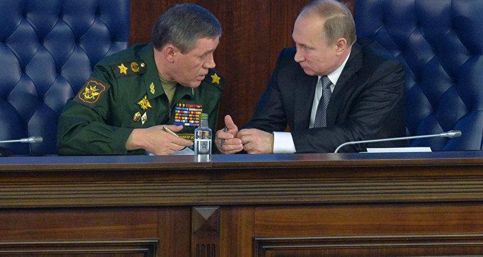 Rusya Devlet Başkanı Vladimir Putin - Rusya Genelkurmay Başkanı Valeriy Gerasimov