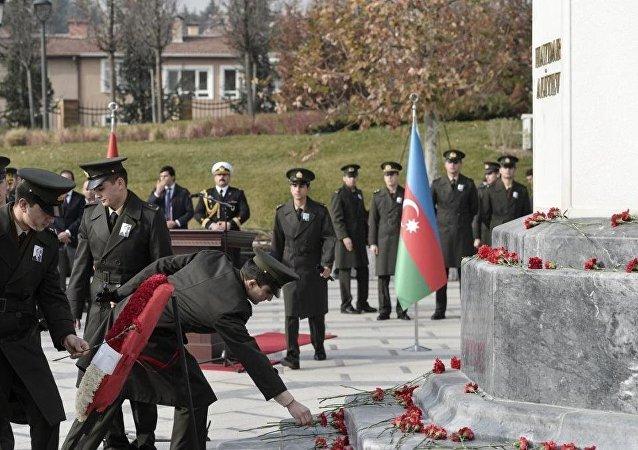 Haydar Aliyev, vefatının 12. yılında Batıkent'teki Haydar Aliyev Parkı'nda düzenlenen törenle anıldı.