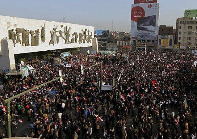 Bağdat'ta 'Türkiye, askerini geri çeksin' protestosu