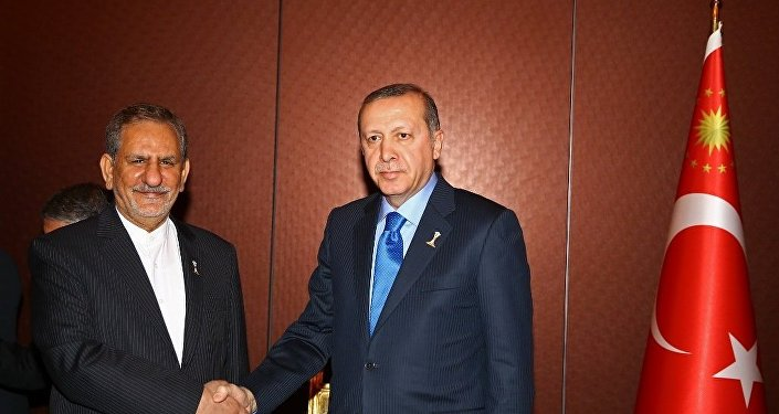 İran Cumhurbaşkanı Birinci Yardımcısı İshak Cihangiri ve Cumhurbaşkanı Recep Tayyip Erdoğan