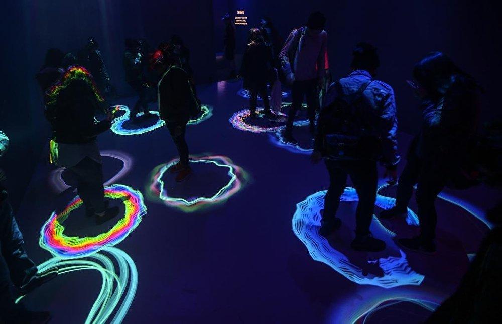 New York'ta ışık gösterisi