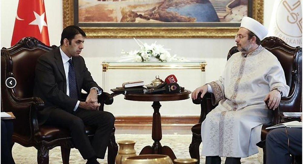 Diyanet İşleri Başkanı Mehmet Görmez-  ABD Dışişleri Bakanlığı'nın Müslüman Toplumlar Özel Temsilcisi Şerik Zafer