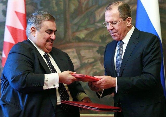 Rusya Dışişleri Bakanı Sergey Lavrov, Bahreynli mevkidaşı Halid bin Ahmed bin Muhammed el Halife ile görüştü.