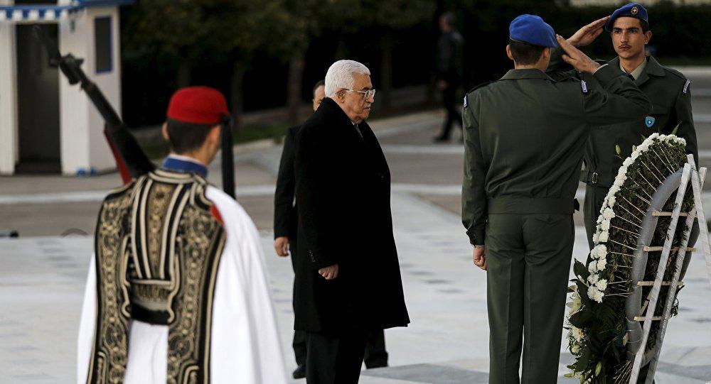Filistin Devlet Başkanı Mahmud Abbas Atina'da