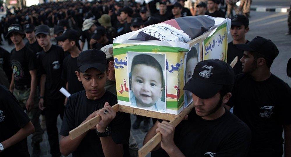 Yahudi yerleşimciler tarafından öldürülen Filistinli bebek Ali Devabişe