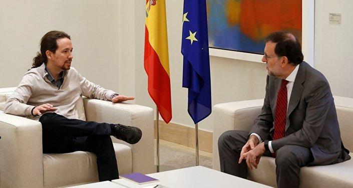 Podemos lideri Pablo Iglesias- İspanya Başbakanı Mariano Rajoy