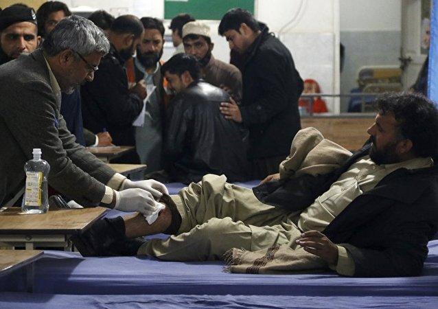 Pakistan'ın Mardan kentinde düzenlenen intihar saldırısı