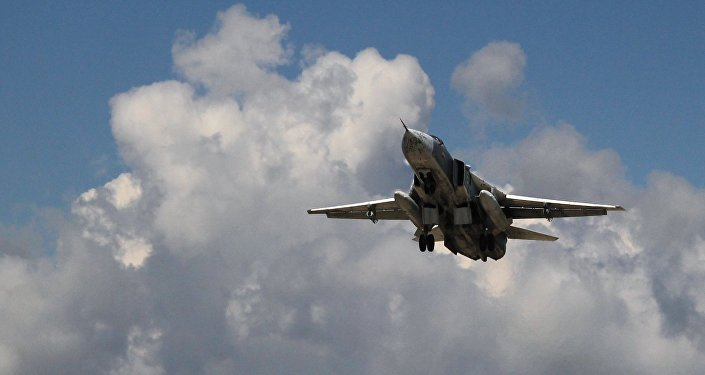 Russian Su-24 front-line bomber jet